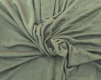Modal Spandex 1x1 Rib Fabric by the Yard Ck Green Stretchy Rib 6/17