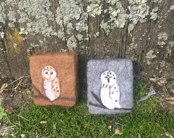 Owl Felted Soap Designs