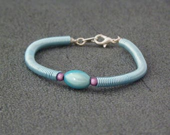 Fancy blue and purple spring bracelet