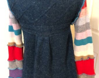Upcycled wool blend sweater
