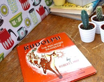 Rudolph The Red Nosed Reindeer by Robert L May 1939 Vintage Children's Book