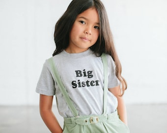 Big Sister Children's t-shirt, by The Bee & The Fox, Made in USA
