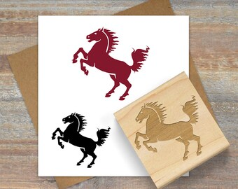 Horse Stamp, Horse Silhouette Rubber Stamp, Pony Rubber Stamp, Horse Rubber Stamp, Horse Lover Gift, Animal Stamp 018