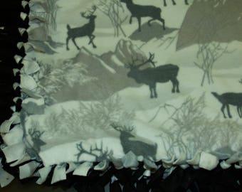 Winter Wonderland No Sew Blanket