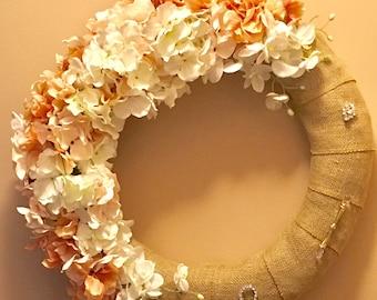 Hydrangea silks wreath epsteam