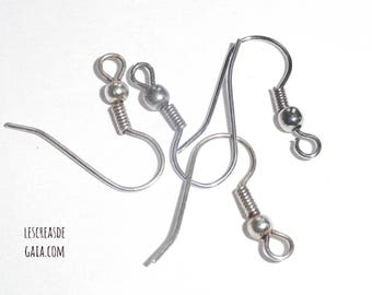 1 x set of 4 silver tone - support for pierced ear hooks