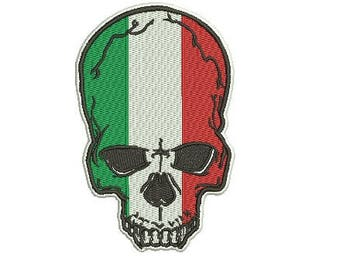 Italian skull embroidery design