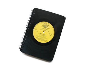 Vinyl Notebook | A5 | Record Notepad | Lined Jotter | Yellow Book