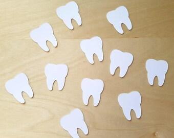 Teeth confetti/Teeth cut-outs/tooth fairy/graduation decoration