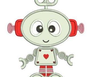 Sample Sale - SUPER CUTE ROBOT - Valentine Bib