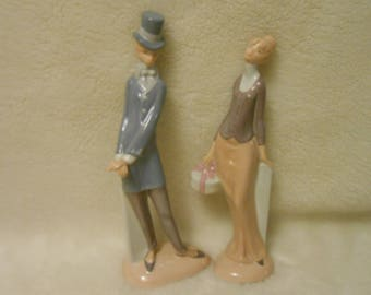 1930's Art Deco Porcelain 1800's Couple