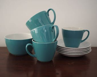 Alfred Meakin cups saucers and sugar bowl 60s 70s