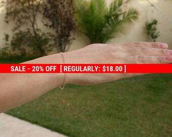 SALE 20% OFF Gold bracelet, Delicate bracelet, Dainty gold bracelet, simple bracelet, Minimalist bracelet -117