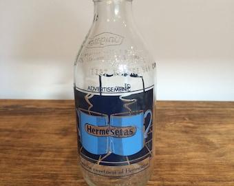 Vintage '80's Unigate milk bottle Hermesetas