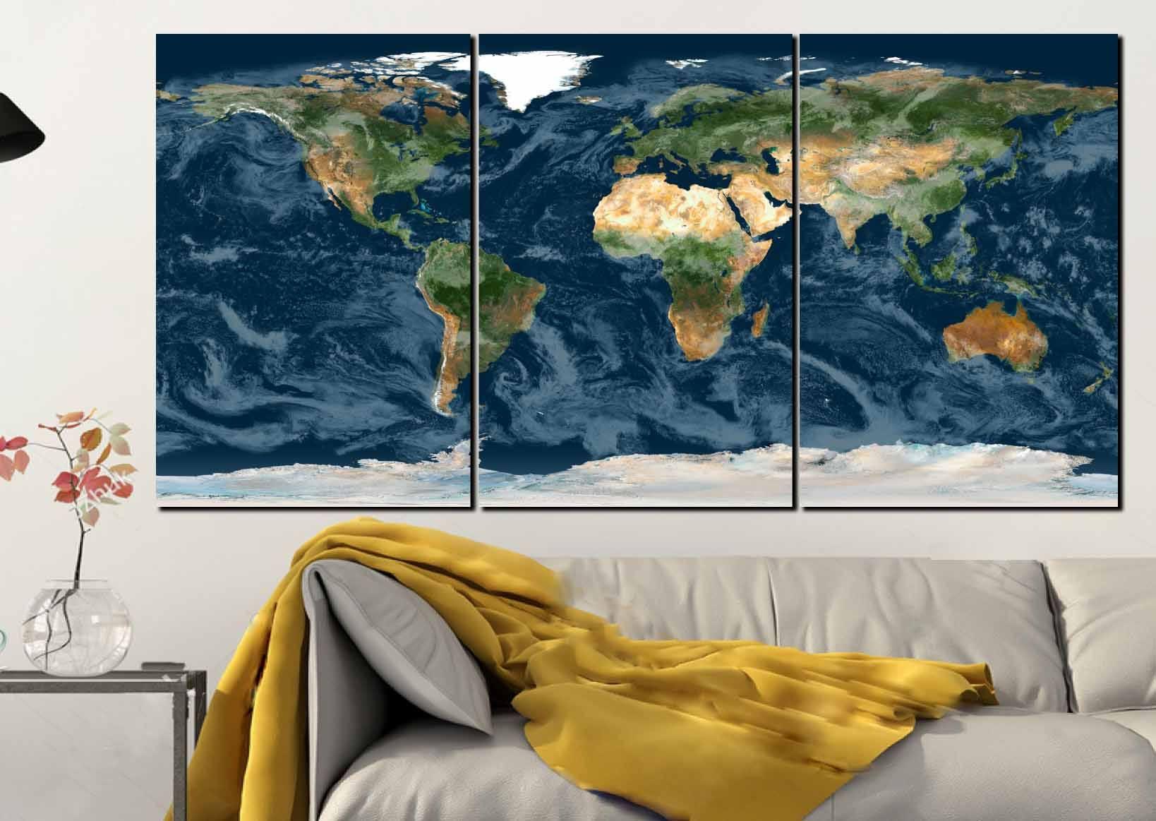 World MapWorld Map Wall ArtWorld Map ArtWorld Map CanvasPlanet - Large world map