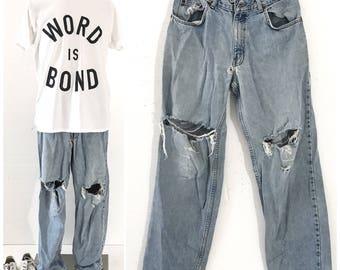 Zerrissene jeans 90er