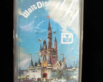 Vintage WALT DISNEY WORLD Playing Cards Sealed in Cellophane & in Original Plastic Box