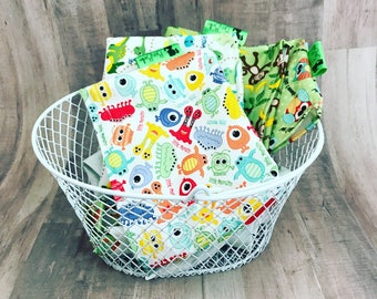 KIDS SNACK BAGS • Reusable Snack Bags • Waterproof Snack Bags • Dinosaur Bags • Monster Bags • Party Favor Bags • Back To School •