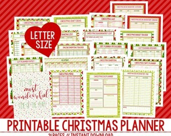 Christmas Planner, Christmas Printables, Holiday Planner, Printable Christmas Planner, Christmas Planning, LETTER SIZE, 21 Pages