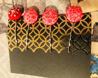 Red Bobbi Pins