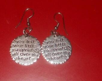 Paw Prints On My Heart Earrings