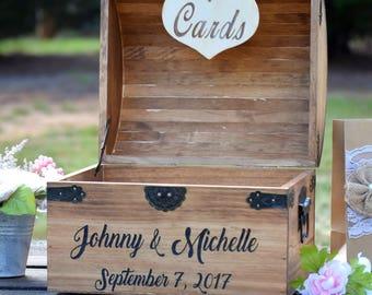 Rustic Wooden Card Box - Rustic Wedding Card Box - Rustic Wedding Decor - Advice Box Wishing Well - Shabby Chic Card Box - Wedding Card Box