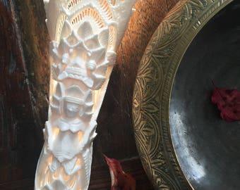 Vintage Balinese bone sculpture