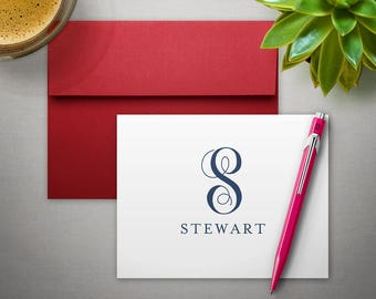 Personalized Stationery | Couples Stationary | Folded Notecards | FAMILY MONOGRAM | Monogrammed Thank You Notes
