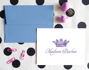 Bridesmaid Gift | Personalized Gift for Her | Anniversary Gift | ROYAL CROWN | Custom Stationery Notecards | Stationary Note Cards