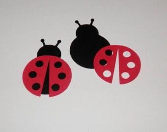 Ladybug Die Cut Confetti Paper Punch 25 sets , DIY, You choose colors and quantity
