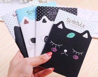 Kawaii Cat Schedule Book/ Cat Journal / Kitty Pocket Notebook