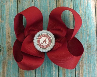 Alabama Crismson Tide Bottlecap Bow