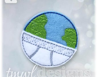 Underpants Globe Feltie Digital Design File - 1.75""