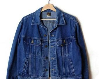 Damaged Vintage Lee Denim Jacket/Jean Jacket from 1980's/Grunge*