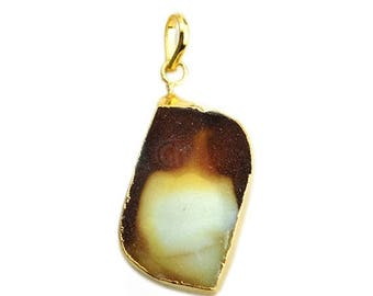 45% OFF Rough Geode Druzy Pendant 22k Gold Electroplated Gemstone Druzy Necklace Pendant (NP-50911)