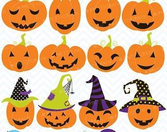 80% OFF SALE pumpkin jack o lantern clipart, commercial use, vector graphics, digital clip art, digital images - CL553