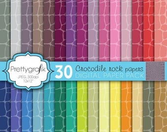 80% OFF SALE crocodile animal print digital paper, commercial use, scrapbook papers, background  - PS595
