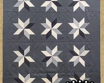 Primitive Quilt Pattern - Winter Solstice Appliqued Quilt Pattern