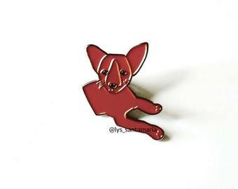 Chihuahua Enamel Pin | Brown Dog Art Pin | Cute Dog Lapel Pin | Puppy Pin | Doggy Pin | Animal Pin | Dog Enamel Pin | Stocking Stuffer