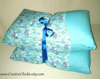 Rainbow Fish Pillow Bed, Children's Pillow Bed, Pillow Mattress, Sleepover Bed