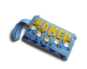 Homer Simpson Bag • Upcycled Tshirt Bag • Clutch • Cartoon Purse • Simpsons Gift • Simpsons Tshirt Bag