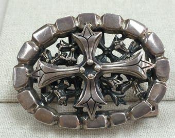 Soffer Ari .925 Silver Belt Buckle - Similar To Chrome Hearts