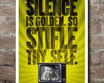 "All In The Family ""Stifle Thy Self"" Archie Bunker Quote Poster"