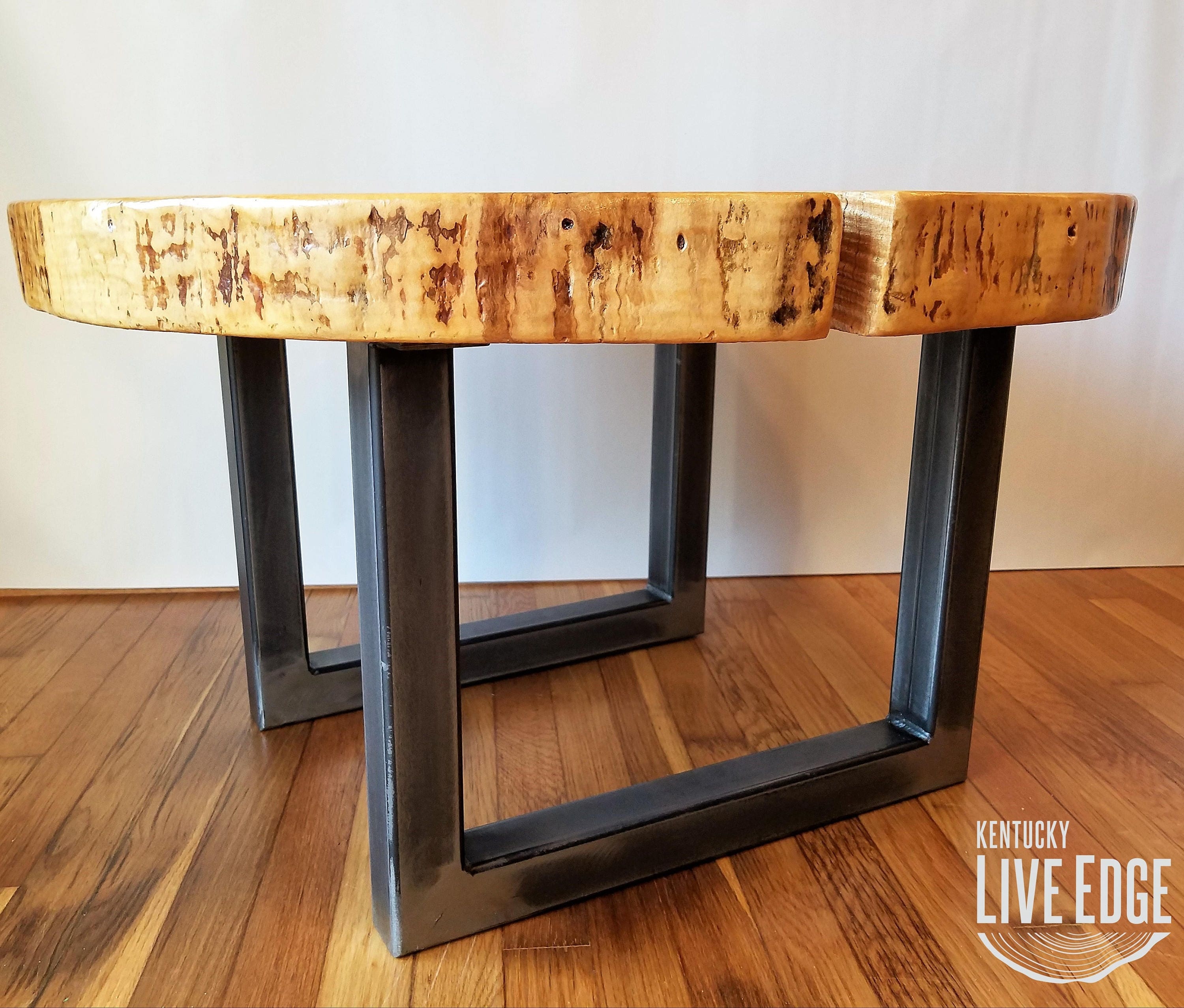 Round Coffee Table Live Edge Industrial Tree Slice Log