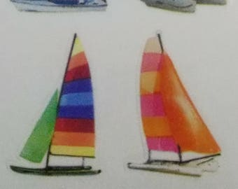 Paper House Productions Sailboats Stickers 6 Images Per Sheet Scrapbooking