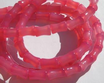 4 agate beads bone Blue 10 mm (PV14-24)