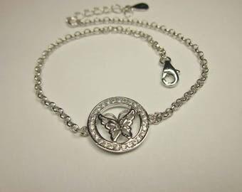 Bracelet with butterfly motif by Silver 925 (73)