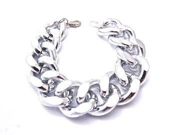 Oversize Silver Chunky Chain Bracelet Matching Necklace Available