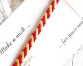 Red Yellow Bracelet Spain Flag Bracelet Friendship bracelet Red Bracelet Yellow Bracelet BBF Wish Bracelet Braided Bracelet Gift for Her