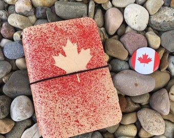 PocketJot - Canada 150 Special Edition (2) - Leather Traveler's Notebook/Fauxdori